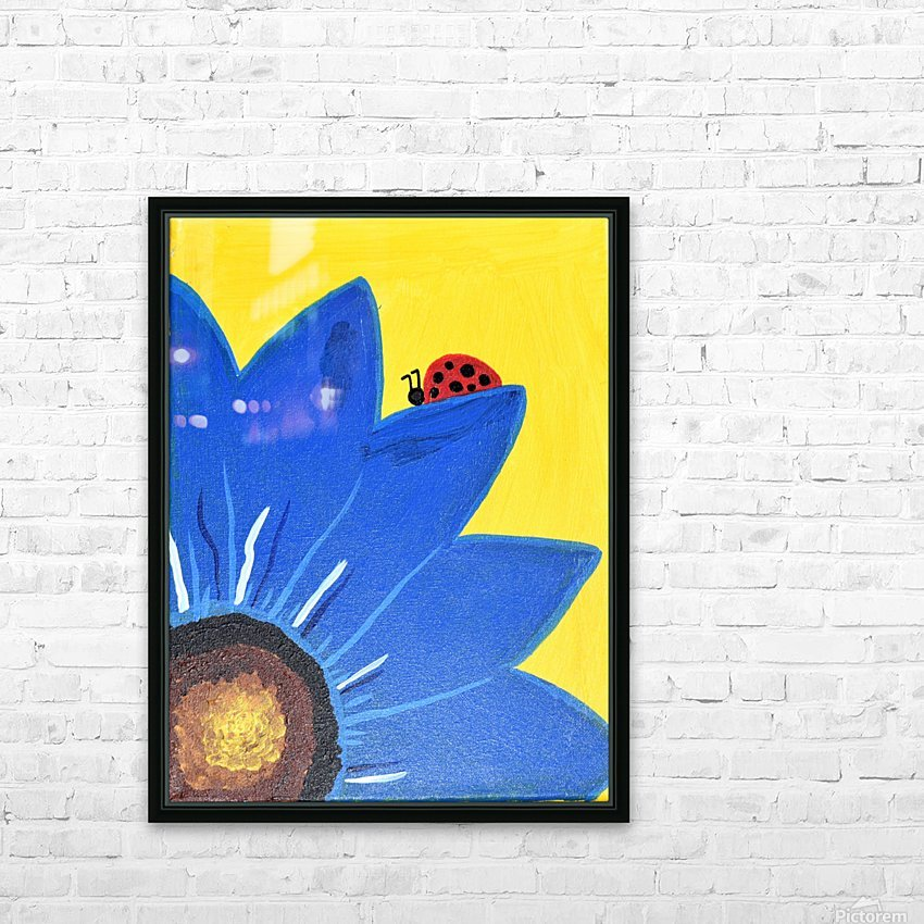 Blue Lady Bug. Maggie Z HD Sublimation Metal print with Decorating Float Frame (BOX)