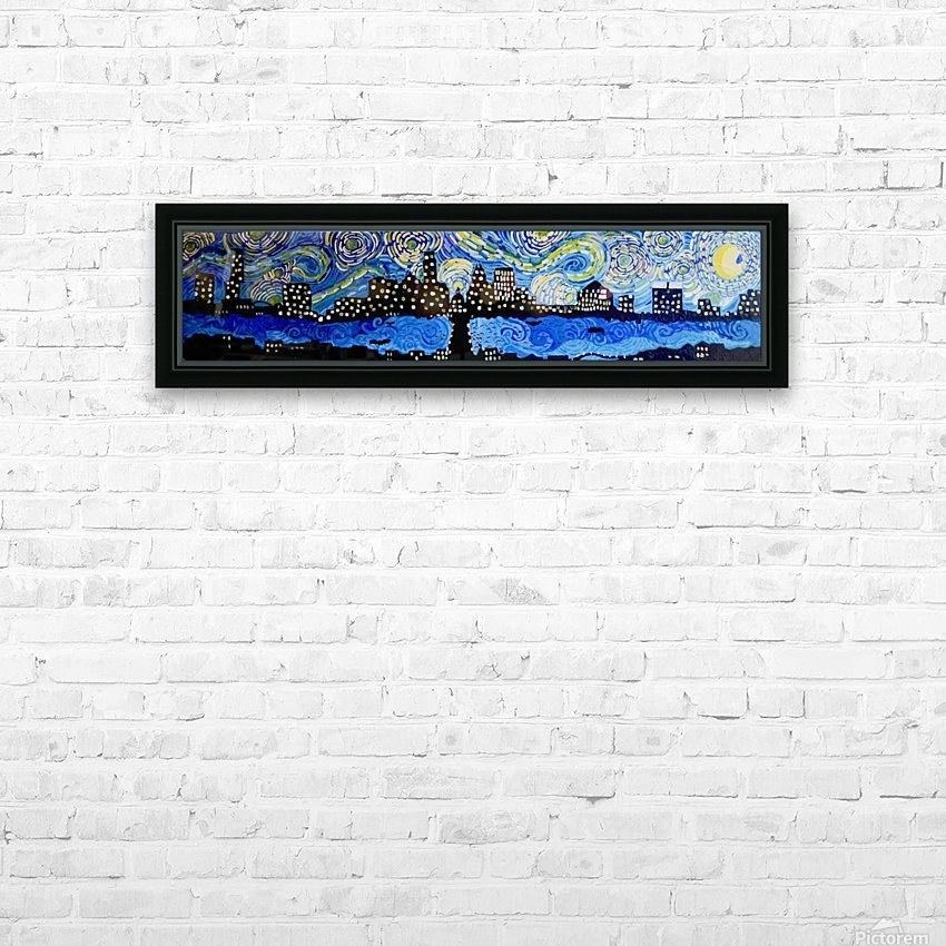 Austin Starry Night. Tala S. HD Sublimation Metal print with Decorating Float Frame (BOX)
