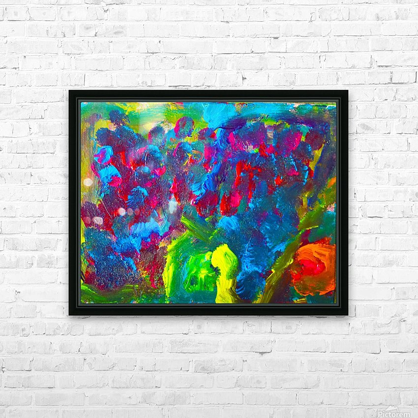 Abstract Flowers. Marielle A HD Sublimation Metal print with Decorating Float Frame (BOX)