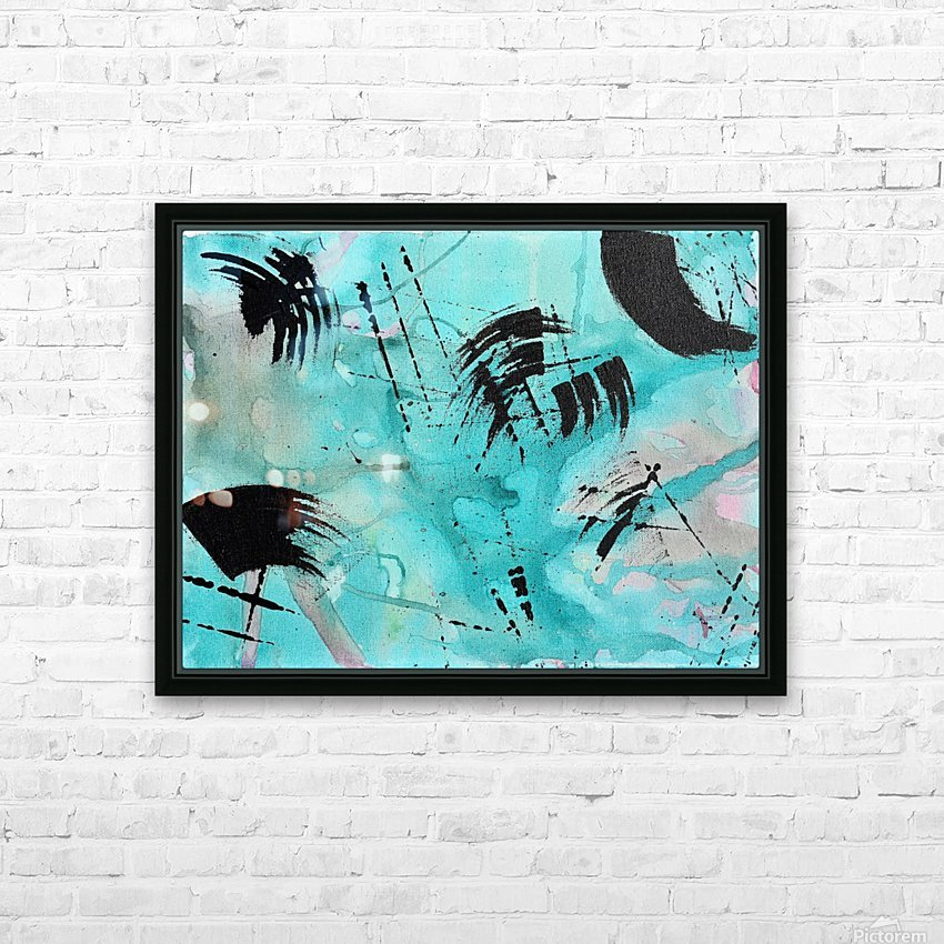 Abstract Watercolor. Geoffory E HD Sublimation Metal print with Decorating Float Frame (BOX)