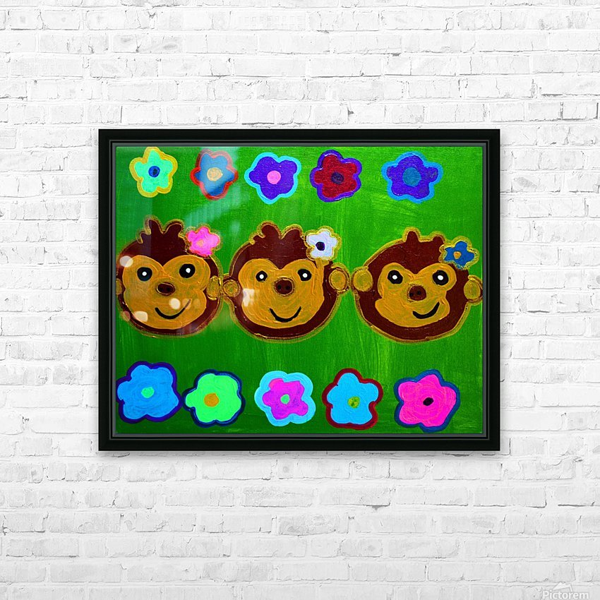 Chain of Monkey.Ali H HD Sublimation Metal print with Decorating Float Frame (BOX)