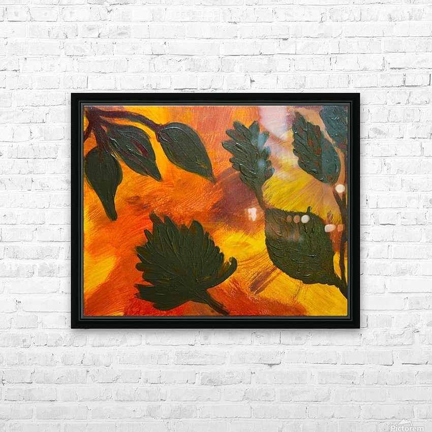 Fall Leaves. Jessica B HD Sublimation Metal print with Decorating Float Frame (BOX)