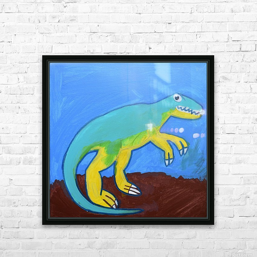 Dino. Dominic H HD Sublimation Metal print with Decorating Float Frame (BOX)
