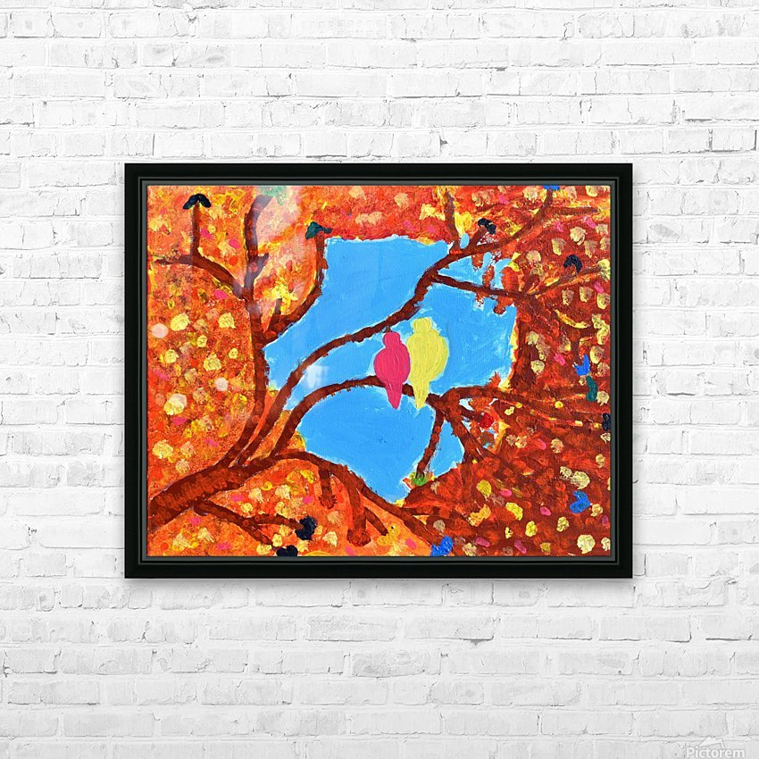 Love Birds. Maggie HD Sublimation Metal print with Decorating Float Frame (BOX)