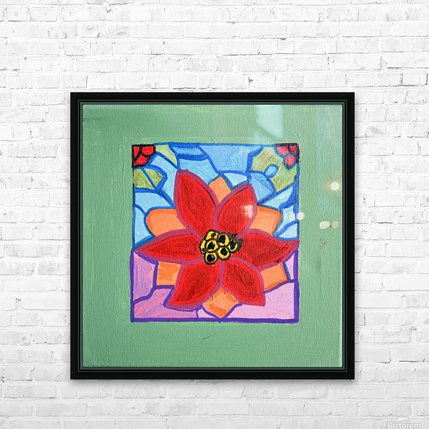 Poinsettia. Thomas L HD Sublimation Metal print with Decorating Float Frame (BOX)