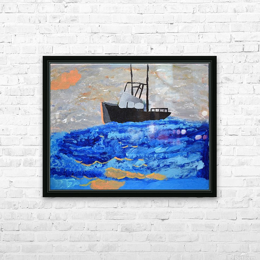 Tug Boat. Davey K HD Sublimation Metal print with Decorating Float Frame (BOX)