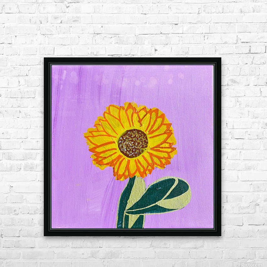 Sunflower. Annie F. HD Sublimation Metal print with Decorating Float Frame (BOX)