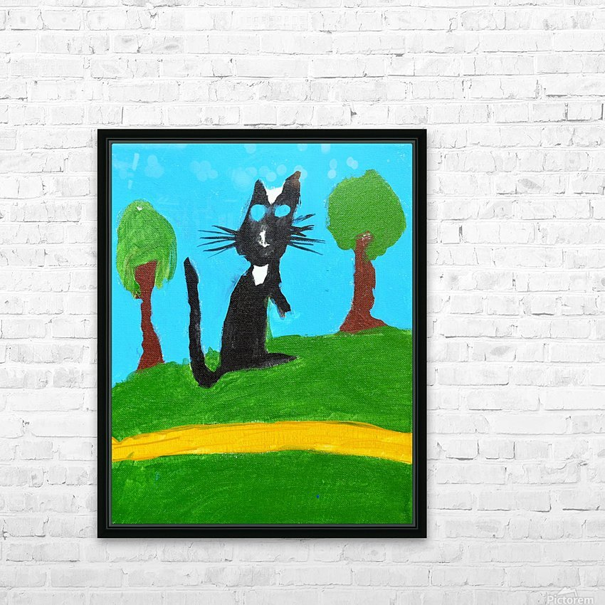 Meow. Susan S HD Sublimation Metal print with Decorating Float Frame (BOX)
