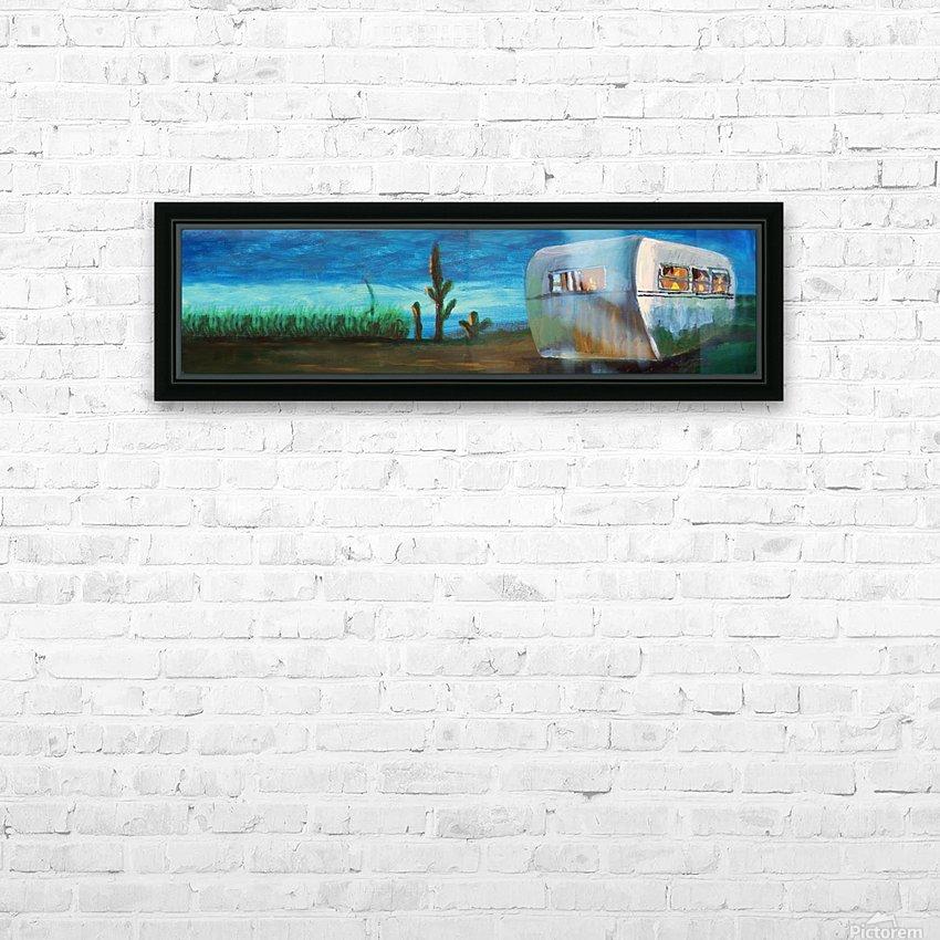 Airstream by Nancy D. HD sublimation métal imprimé avec décoration flotteur cadre (boîte)