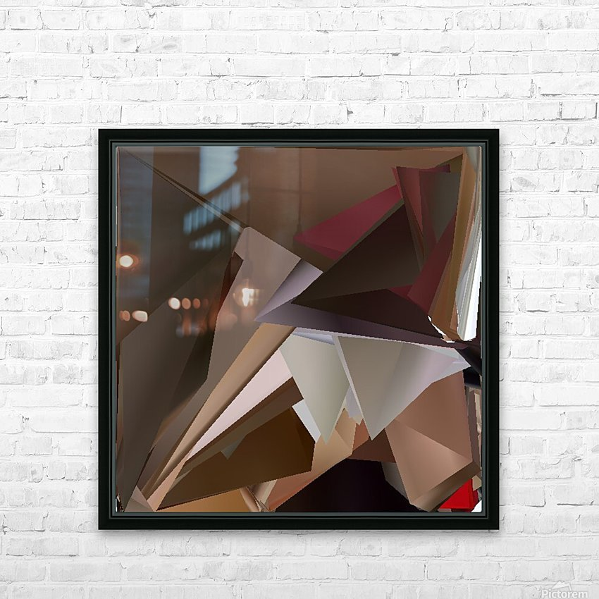 Art three HD Sublimation Metal print with Decorating Float Frame (BOX)