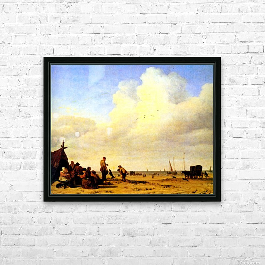 Beach Scene HD Sublimation Metal print with Decorating Float Frame (BOX)