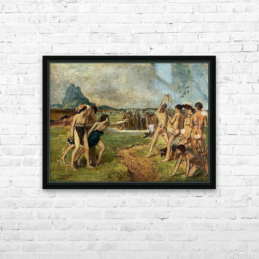 Young Spartans Exercising HD Sublimation Metal print with Decorating Float Frame (BOX)