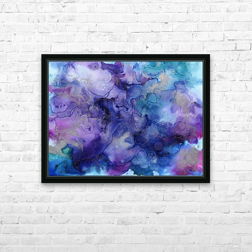 PURPLE CLOUDS HD Sublimation Metal print with Decorating Float Frame (BOX)