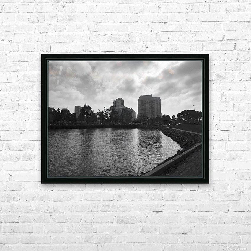 San Diego Marina HD Sublimation Metal print with Decorating Float Frame (BOX)