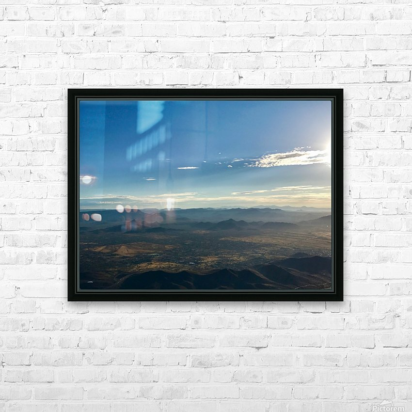 Looking Down HD Sublimation Metal print with Decorating Float Frame (BOX)