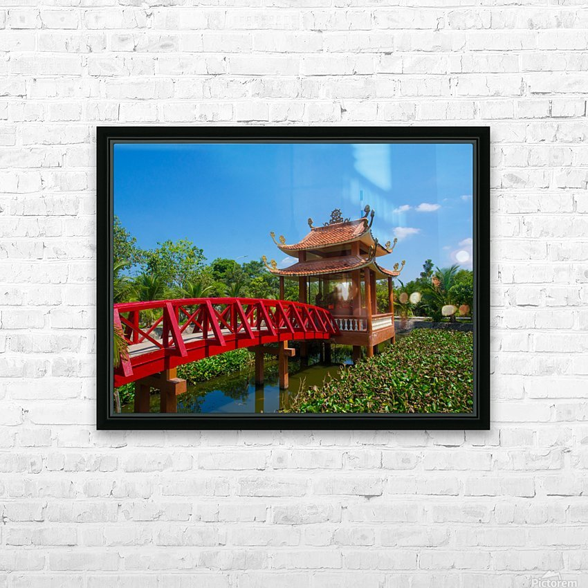 Can Tho temple VietNam HD Sublimation Metal print with Decorating Float Frame (BOX)