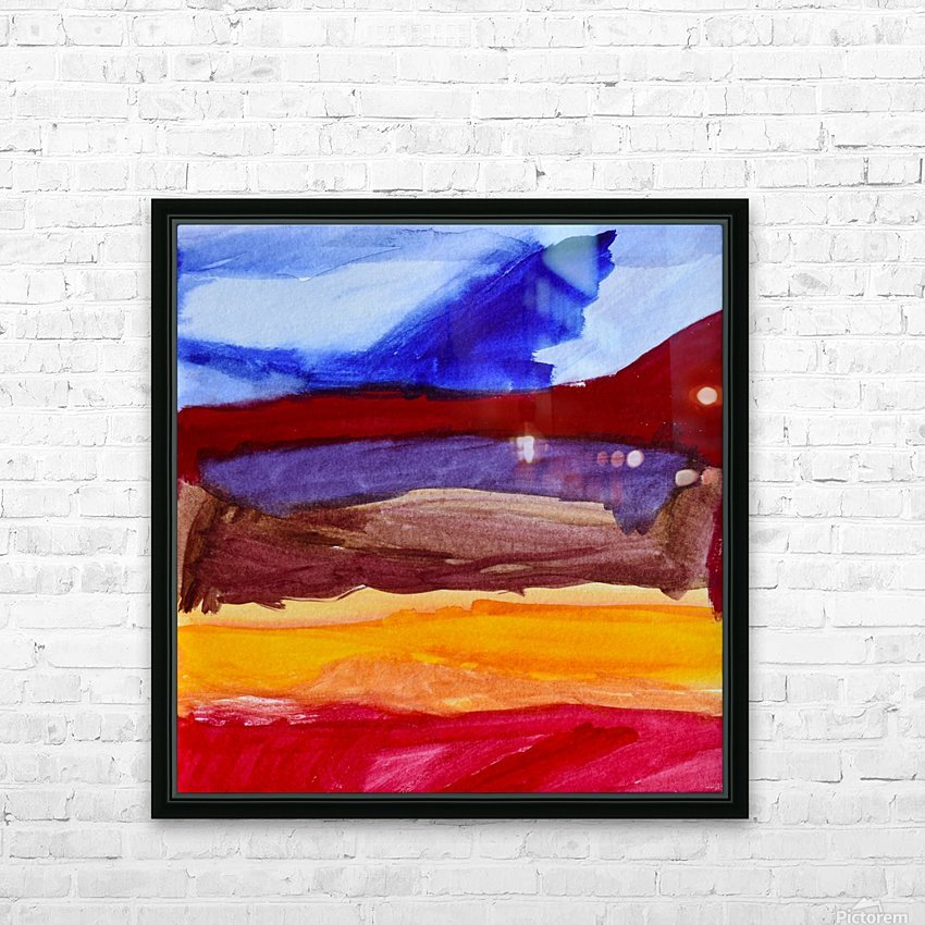 Fall Mountains. Anna B HD Sublimation Metal print with Decorating Float Frame (BOX)