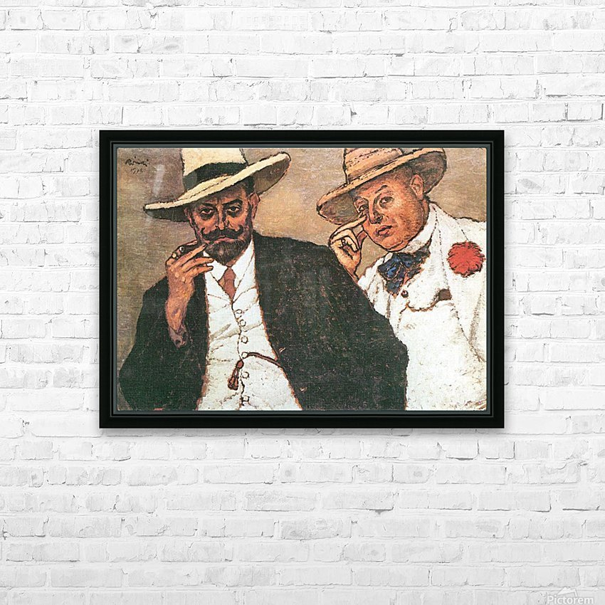 Lajos und Odon by Joseph Rippl-Ronai HD Sublimation Metal print with Decorating Float Frame (BOX)