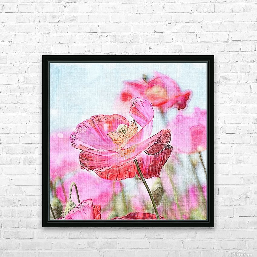 WILD POPPYS HD Sublimation Metal print with Decorating Float Frame (BOX)