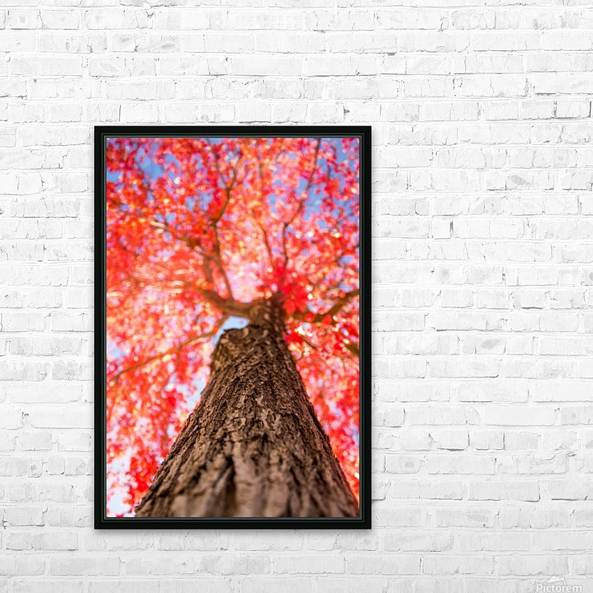 THE RED TREE HD Sublimation Metal print with Decorating Float Frame (BOX)