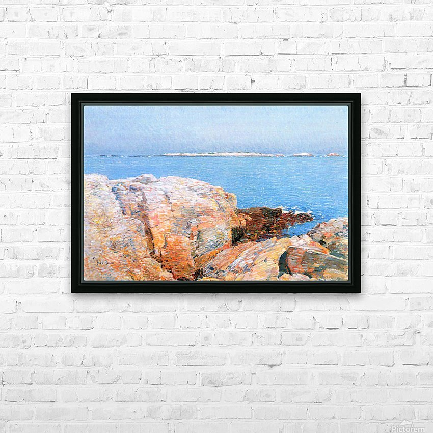 Duck island by Hassam HD Sublimation Metal print with Decorating Float Frame (BOX)