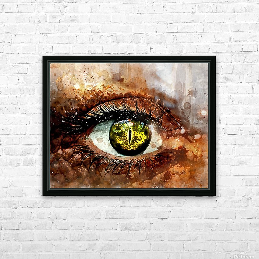 GREEN EYE HD Sublimation Metal print with Decorating Float Frame (BOX)