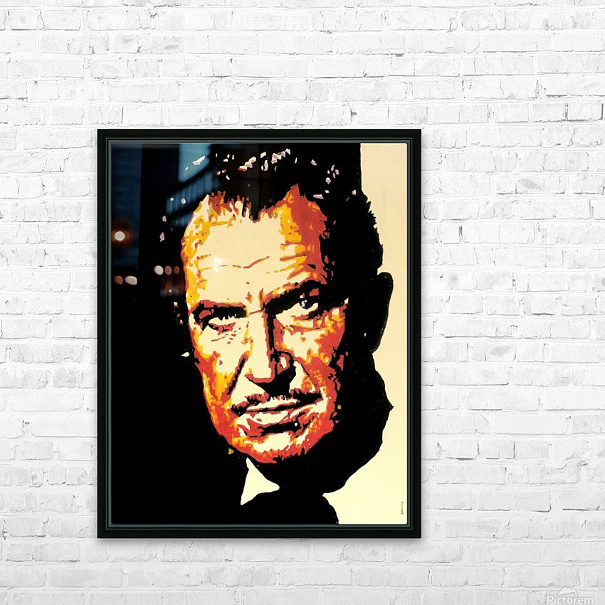 Vincent Price HD Sublimation Metal print with Decorating Float Frame (BOX)