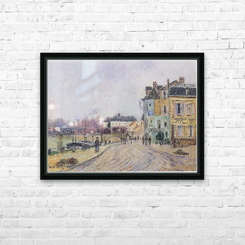 Street of Pontoise HD Sublimation Metal print with Decorating Float Frame (BOX)