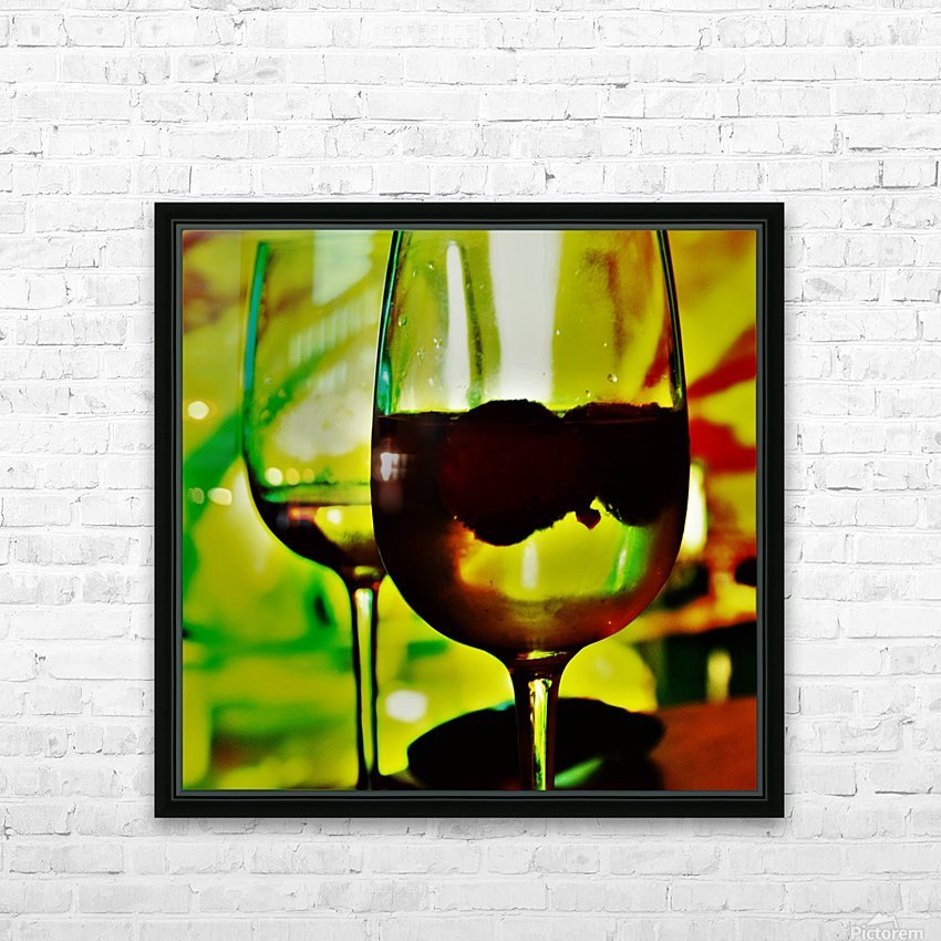 winedown HD Sublimation Metal print with Decorating Float Frame (BOX)