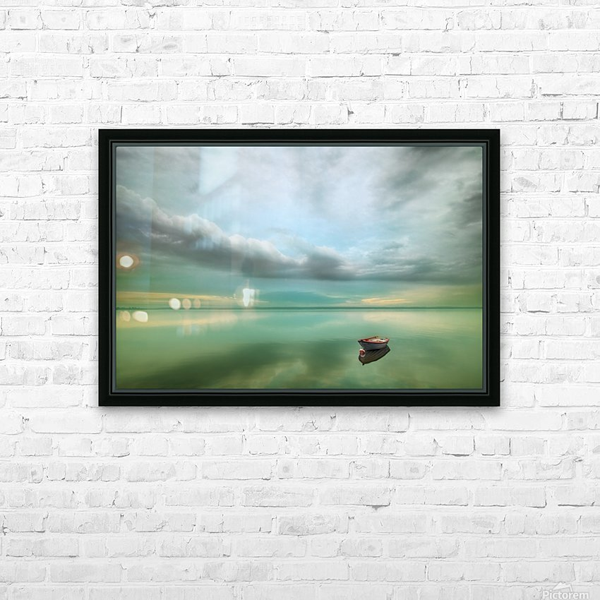 Boat... HD Sublimation Metal print with Decorating Float Frame (BOX)