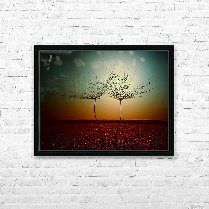 Fire and water HD Sublimation Metal print with Decorating Float Frame (BOX)