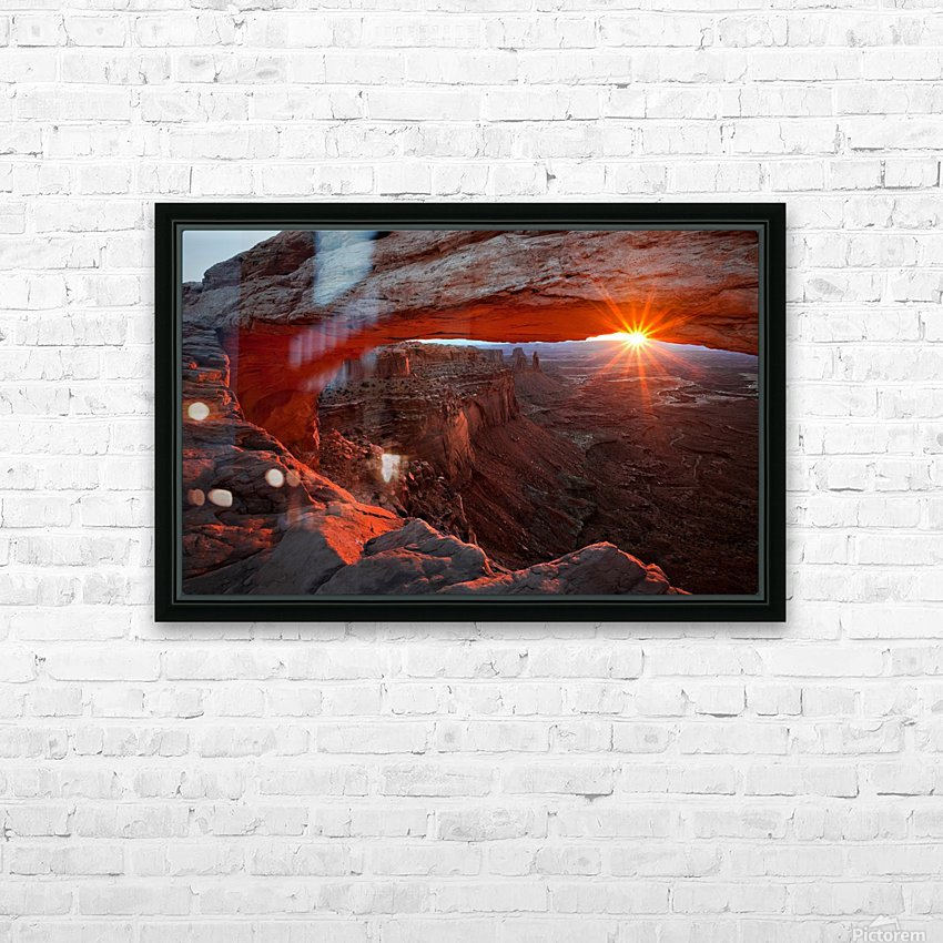 Mesa Arch Sunrise HD Sublimation Metal print with Decorating Float Frame (BOX)