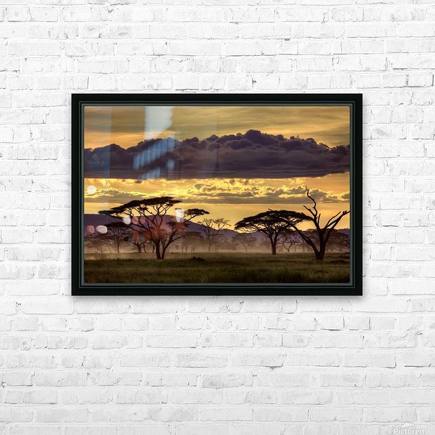 Good evening tanazania HD Sublimation Metal print with Decorating Float Frame (BOX)
