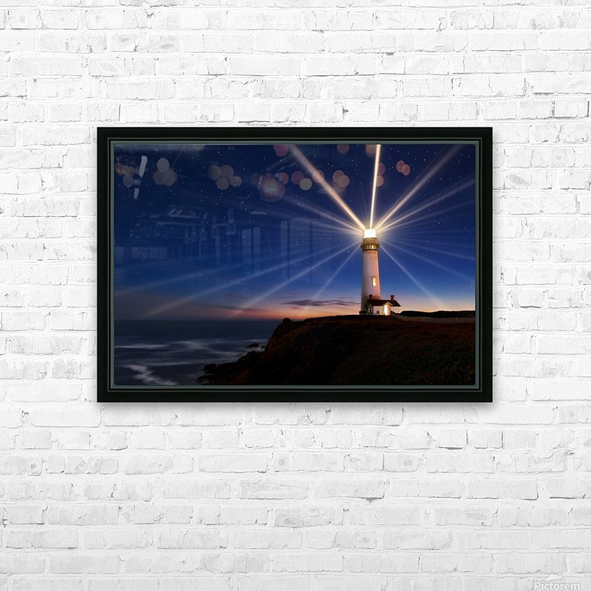 Lighting of the Lens HD Sublimation Metal print with Decorating Float Frame (BOX)