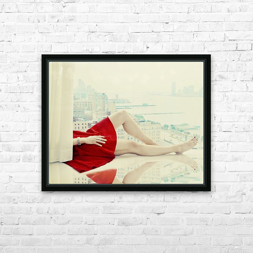 lazy afternoon HD Sublimation Metal print with Decorating Float Frame (BOX)