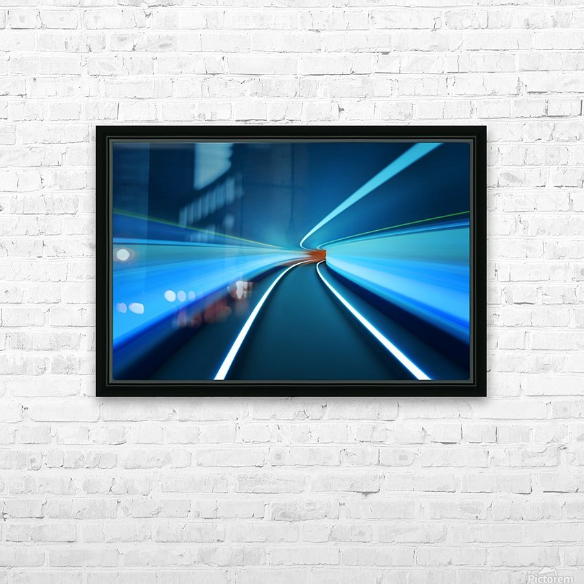 Tunnel Vision HD Sublimation Metal print with Decorating Float Frame (BOX)