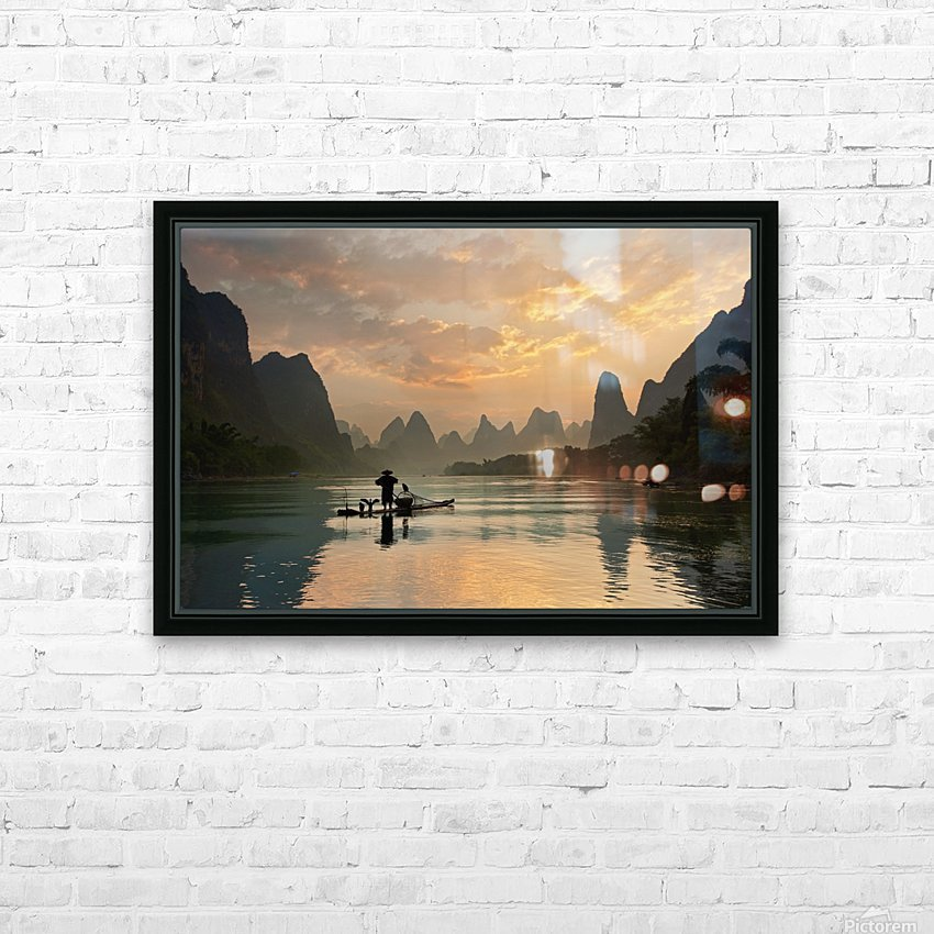 Golden Li River HD Sublimation Metal print with Decorating Float Frame (BOX)
