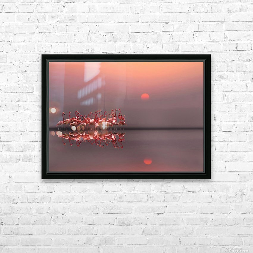 purple sunset HD Sublimation Metal print with Decorating Float Frame (BOX)