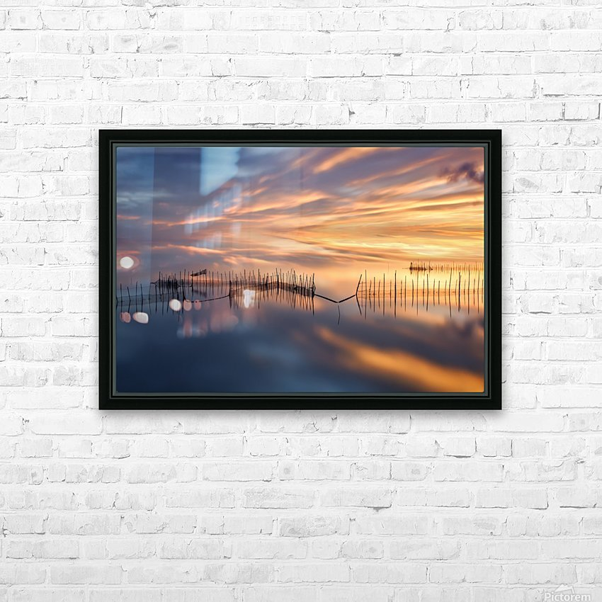 Fishnets HD Sublimation Metal print with Decorating Float Frame (BOX)