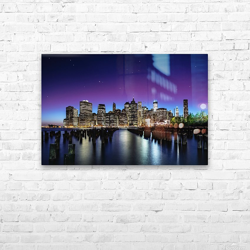 New York Sky Line HD Sublimation Metal print with Decorating Float Frame (BOX)