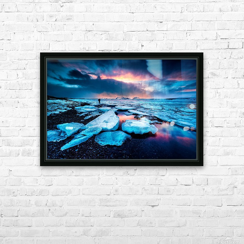 Badlands III HD Sublimation Metal print with Decorating Float Frame (BOX)