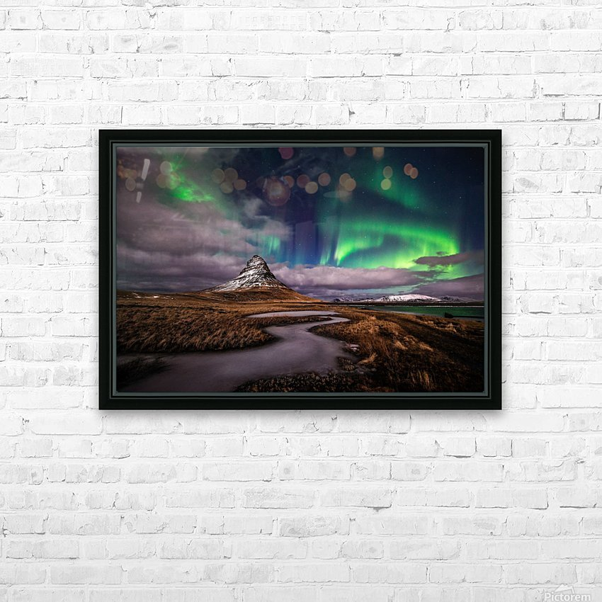 Green Snake HD Sublimation Metal print with Decorating Float Frame (BOX)