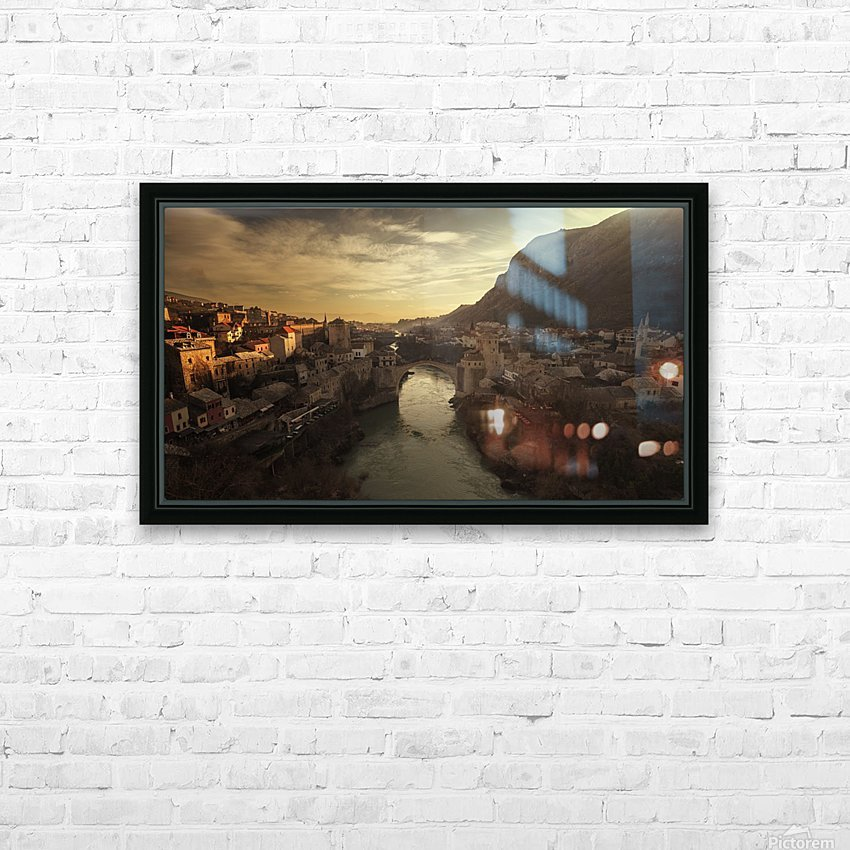 Mostar HD Sublimation Metal print with Decorating Float Frame (BOX)