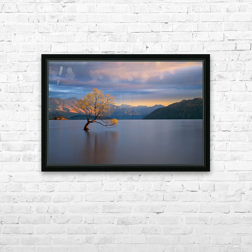 Morning Glow HD Sublimation Metal print with Decorating Float Frame (BOX)