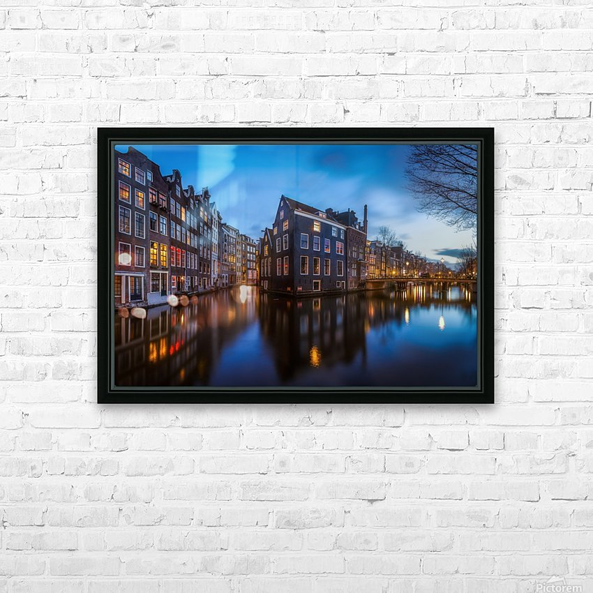 Blue Amsterdam HD Sublimation Metal print with Decorating Float Frame (BOX)