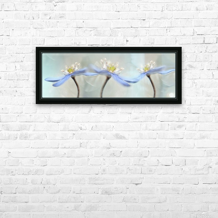 Dancing anemones HD Sublimation Metal print with Decorating Float Frame (BOX)