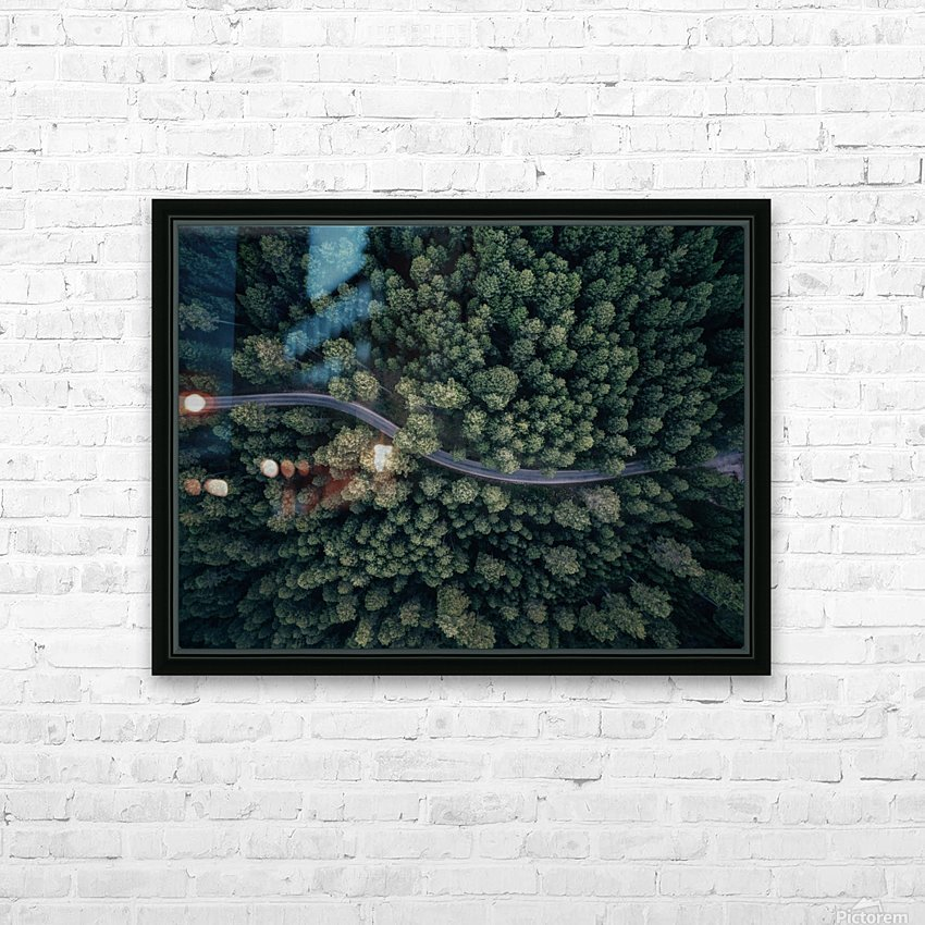 From above HD Sublimation Metal print with Decorating Float Frame (BOX)