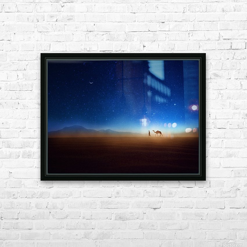 Go home HD Sublimation Metal print with Decorating Float Frame (BOX)