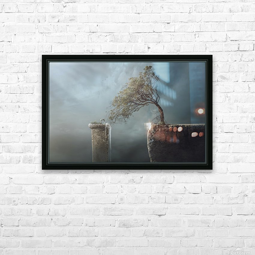 Drink Water HD Sublimation Metal print with Decorating Float Frame (BOX)