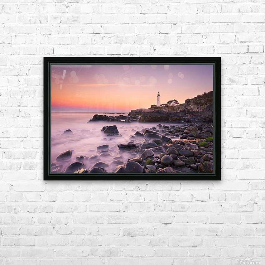 Portland Headlight HD Sublimation Metal print with Decorating Float Frame (BOX)